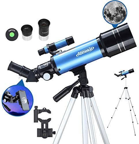 51uwLLYBQIL. AC  - AOMEKIE Telescopes for Adults Astronomy Beginners 70mm/400mm Kids Telescope with Phone Adapter Tripod Finderscope Erect-Image Diagonal and Moon Filter