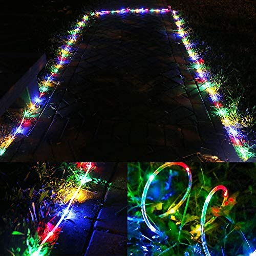 51x05wSni0L. AC  - LE LED Rope Light with Timer, Multi Colored, 8 Mode, Low Voltage, Waterproof, 33ft 100 LED Indoor Outdoor Plug in Light Rope and String for Deck, Patio, Bedroom, Pool, Boat,Landscape Lighting and More