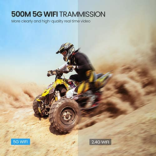 51yxz+0P2iL. AC  - Potensic D58, FPV Drone with 2K Camera, 5G WiFi HD Live Video, GPS Auto Return, RC Quadcopter for Adult, Portable Case, 2 Battery, Follow Me, Easy Selfie Expert Beginner