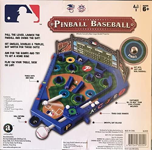 6138qziaeHL. AC  - PB Swiss MLB Baseball Pinball with All 30 Teams Stickers.