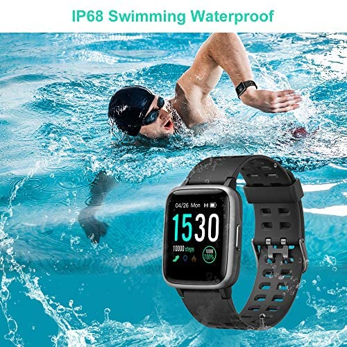 61VDS ELexL. AC  - Willful Smart Watch for Android Phones Compatible iPhone Samsung IP68 Swimming Waterproof Smartwatch Sports Watch Fitness Tracker Heart Rate Monitor Digital Watch Smart Watches for Men Women Black