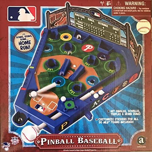 61bnSRxjNkL. AC  - PB Swiss MLB Baseball Pinball with All 30 Teams Stickers.