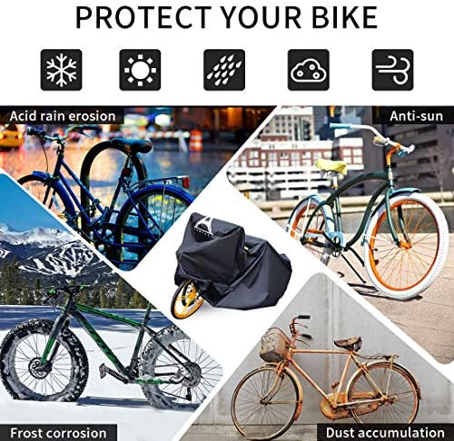 "61eDxkGu5pL. AC  - Bike Covers Outdoor Storage Waterproof,Bicycle Cover Waterproof Outdoor,210D Tear-Proof and Double Seamed Heat Sealing Material Anti-Sun Snow and dust,Suitable for Covering Two or Three 29""Bikes."