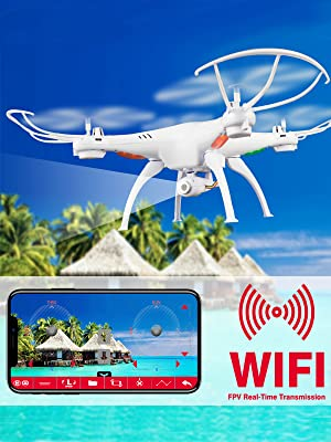 67bdf97d bc45 419f b170 47c18f2ed22f. CR0,0,1200,1600 PT0 SX300   - Cheerwing Syma X5SW-V3 WiFi FPV Drone 2.4Ghz 4CH 6-Axis Gyro RC Quadcopter Drone with Camera, White