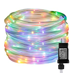 6b6cefd3 9279 4417 9eb4 b0c50f00750f. CR0,0,1000,1000 PT0 SX300   - LE LED Rope Light with Timer, Multi Colored, 8 Mode, Low Voltage, Waterproof, 33ft 100 LED Indoor Outdoor Plug in Light Rope and String for Deck, Patio, Bedroom, Pool, Boat,Landscape Lighting and More