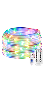 750aa18e a385 4a48 8ab6 063b7efea112.  CR0,0,150,300 PT0 SX150 V1    - LE LED Rope Light with Timer, Multi Colored, 8 Mode, Low Voltage, Waterproof, 33ft 100 LED Indoor Outdoor Plug in Light Rope and String for Deck, Patio, Bedroom, Pool, Boat,Landscape Lighting and More