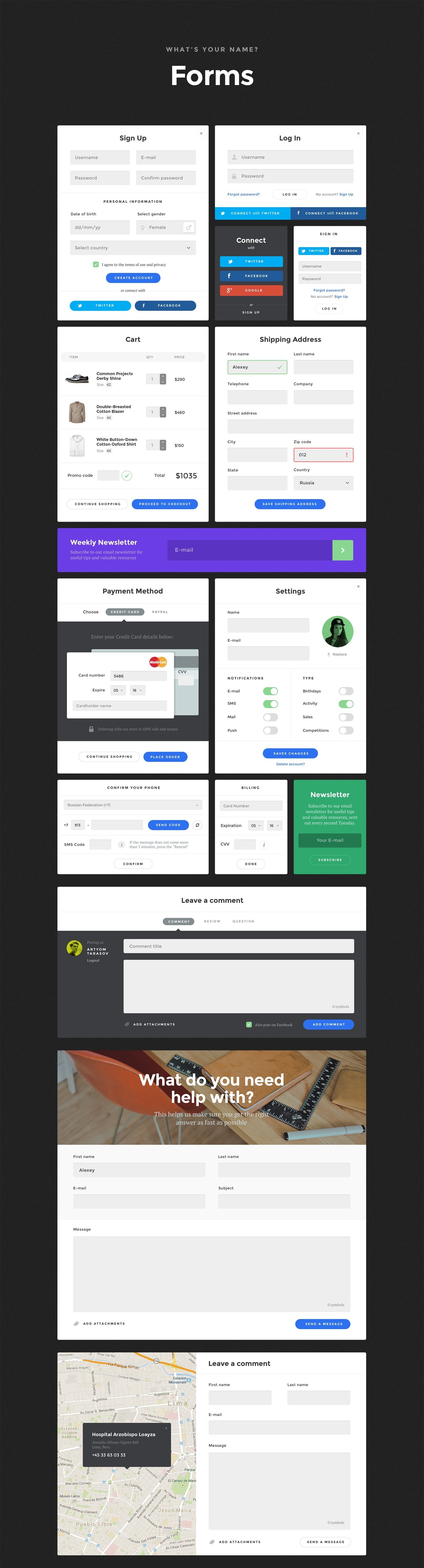 7 Forms - Baikal UI Kit - Huge Set Of UI Components