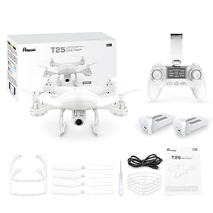 868a0855 f967 4547 97b7 fe0d50d2f8a8.  CR0,0,300,300 PT0 SX300 V1    - Potensic T25 GPS Drone, FPV RC Drone with Camera 1080P HD WiFi Live Video, Dual GPS Return Home, Quadcopter with Adjustable Wide-Angle Camera- Follow Me, Altitude Hold, Long Control Range, White