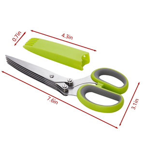 96afd08a c5dd 4a0a a3b2 e560e555567a.  CR0,0,300,300 PT0 SX300 V1    - LHS Herb Scissors with 5 Multi Stainless Steel Blades and Safe Cover Kitchen Gadgets Cutter, Kitchen Chopping Shear, Mincer, Sharp Dishwasher Safe Kitchen Gadget, Culinary Cutter