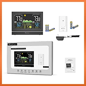 9f940a4d 5bbb 4567 af2d fe3a366a4214.  CR0,0,500,500 PT0 SX300 V1    - Wittime Latest 2076 Weather Station, Wireless Indoor Outdoor Thermometer, High Precision Temperature and Humidity, Weather Forecast and Barometer, Calendar with Moon Phase, 7.5-inch HD Large Screen