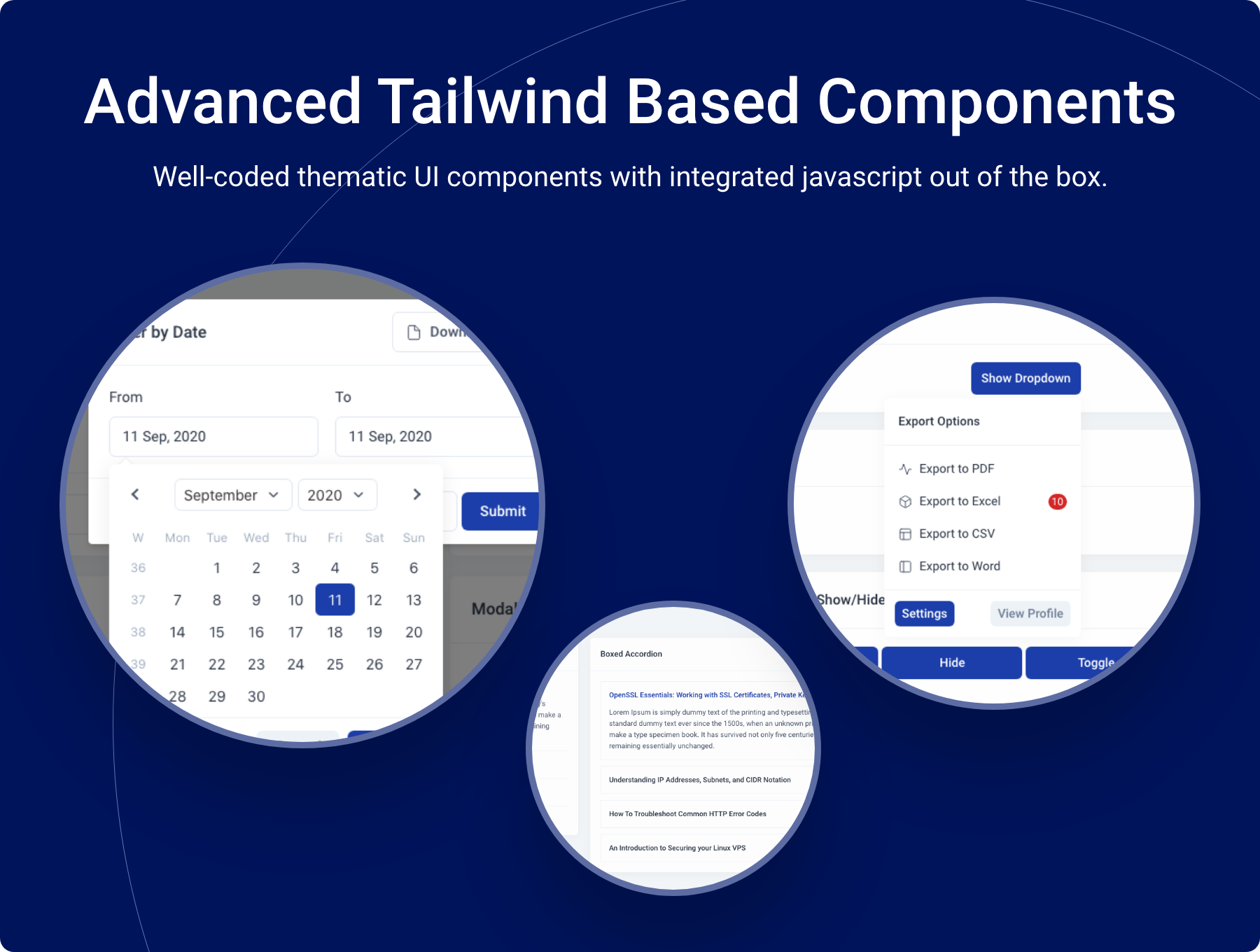 Advanced Tailwind Based UI Components - Midone - Laravel 8 Admin Dashboard Template + HTML Version + XD Design File