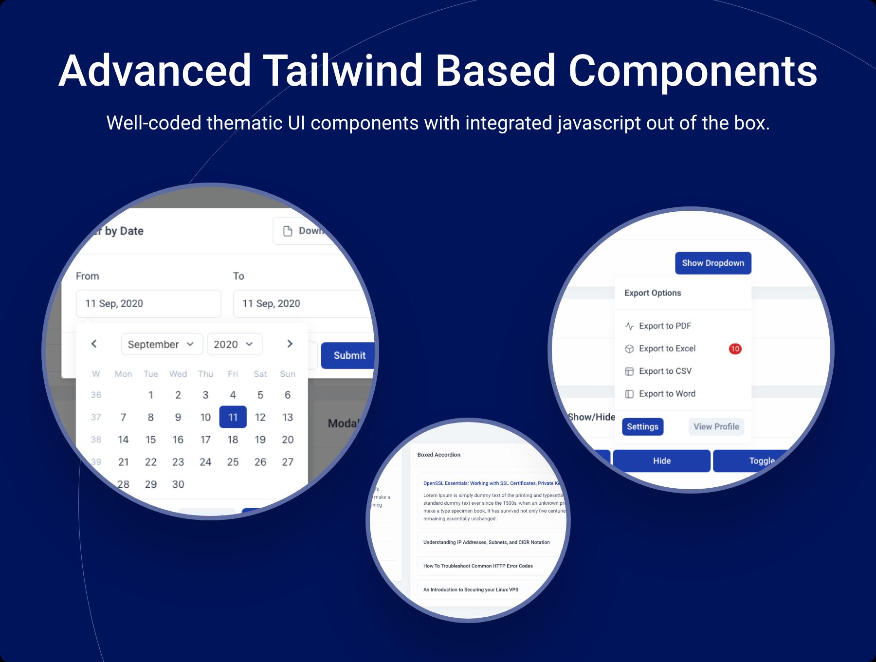 Advanced%20Tailwind%20Based%20UI%20Components - Midone - Laravel 8 Admin Dashboard Template + HTML Version + XD Design File