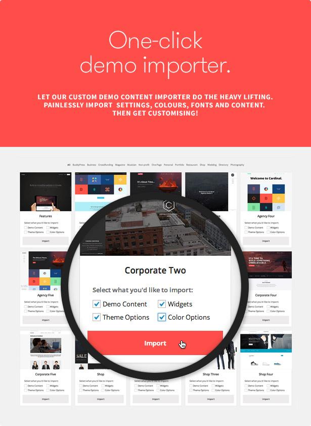Cardinal demo importer fff - Cardinal - WordPress Theme