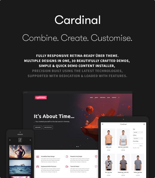 Cardinal hero poster fff - Cardinal - WordPress Theme