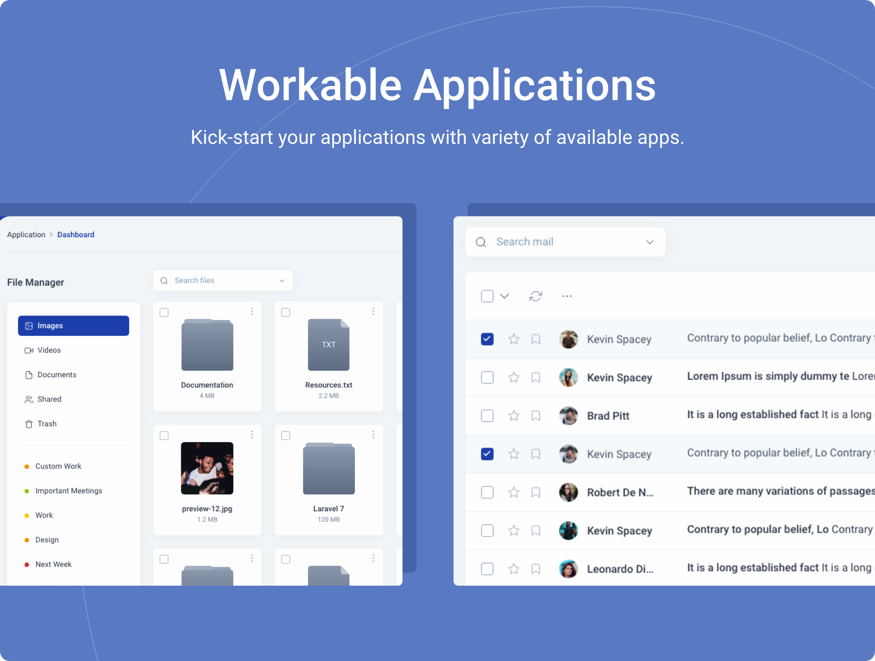 Workable Applications - Midone - Laravel 8 Admin Dashboard Template + HTML Version + XD Design File