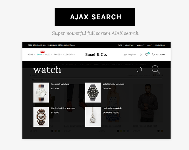 ajax search - Basel - Multipurpose Ecommerce Shopify Theme