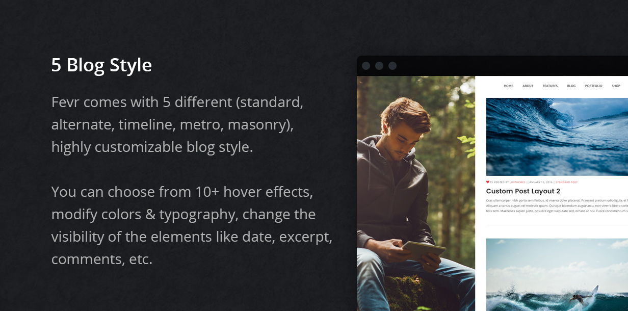 blog - Fevr - Creative MultiPurpose Theme