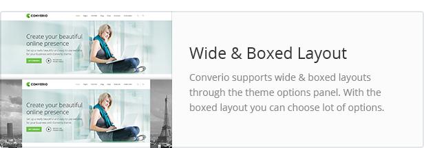 boxed - Converio - Responsive Multi-Purpose WordPress Theme