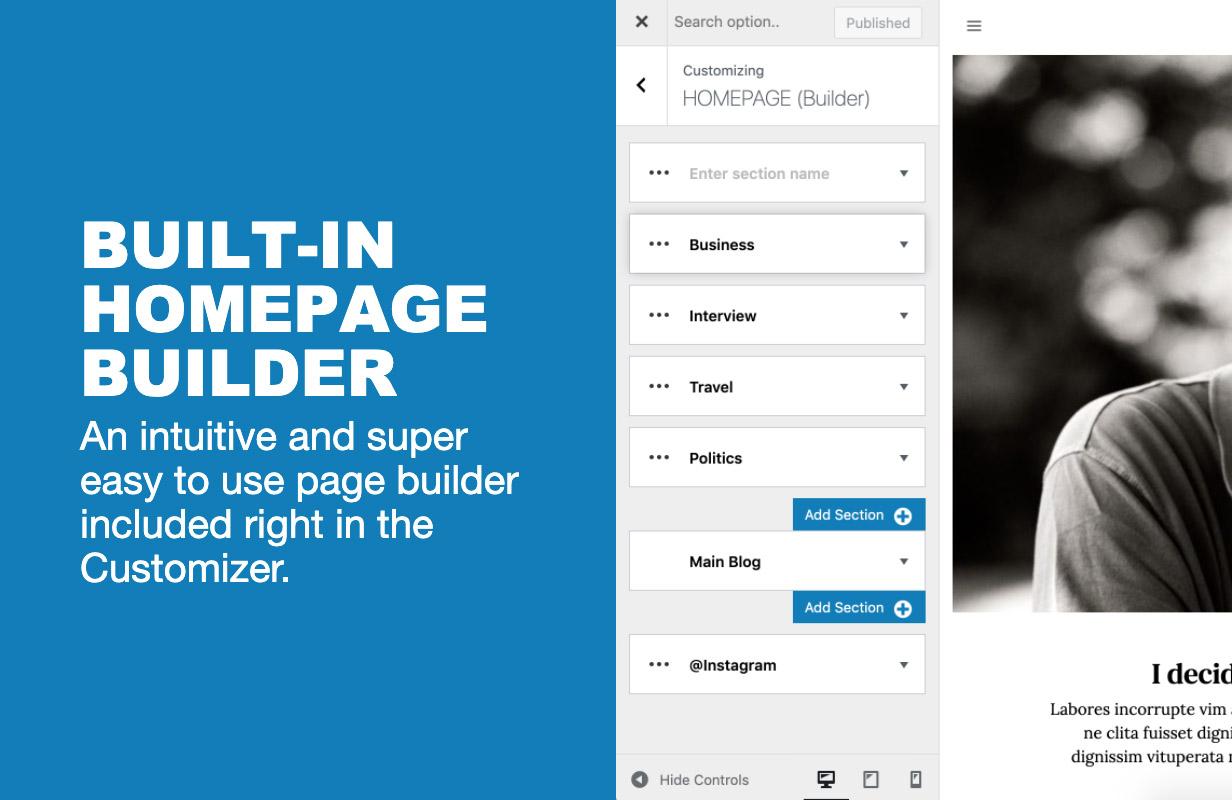 builder - The Fox - Minimal WordPress Blog Magazine Theme