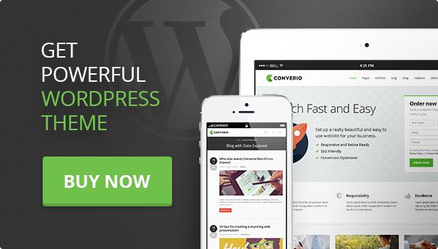 buy converio - Converio - Responsive Multi-Purpose WordPress Theme