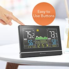 c1868eca 2a92 470c a3fa 3214efd3d92f.  CR0,0,500,500 PT0 SX220 V1    - Wittime Latest 2076 Weather Station, Wireless Indoor Outdoor Thermometer, High Precision Temperature and Humidity, Weather Forecast and Barometer, Calendar with Moon Phase, 7.5-inch HD Large Screen