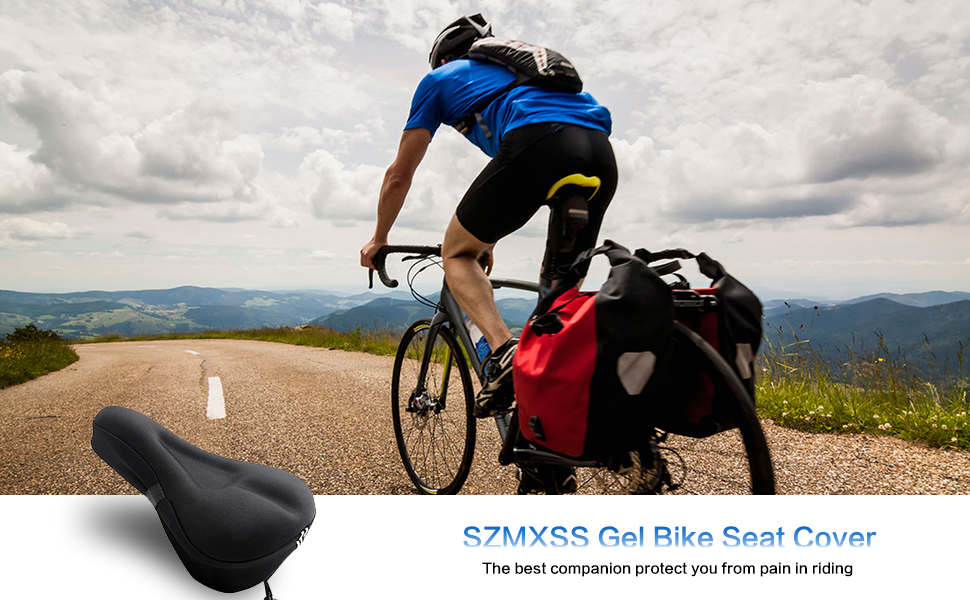 c1886607 0320 4974 a448 ec7e54b42ccc.  CR0,0,970,600 PT0 SX970 V1    - Mountain Bike Seat Cushion Cover Extra Soft Gel Bicycle Seat Cover, Soft Silicone Padded Bike Saddle Cover, Anti-Slip Bicycle Seat Cushion Spinning with Waterpoof&Dust Resistant Cover Outdoor Cycling