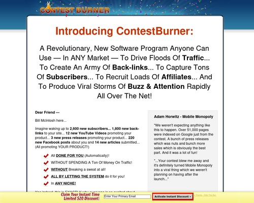 contestb x400 thumb - Viral Marketing - Contest Burner Online Contest Software