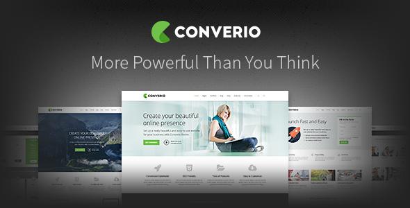 converio responsive multipurpose wordpress theme.  large preview - Converio - Responsive Multi-Purpose WordPress Theme
