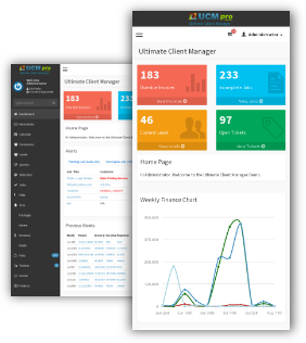 crm with dashboard widgets preview - UCM Theme: AdminLTE CRM