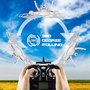 ddb070cc c375 4f30 b3ae eeb3a1c6126e. CR0,0,1600,1600 PT0 SX300   - Cheerwing Syma X5SW-V3 WiFi FPV Drone 2.4Ghz 4CH 6-Axis Gyro RC Quadcopter Drone with Camera, White