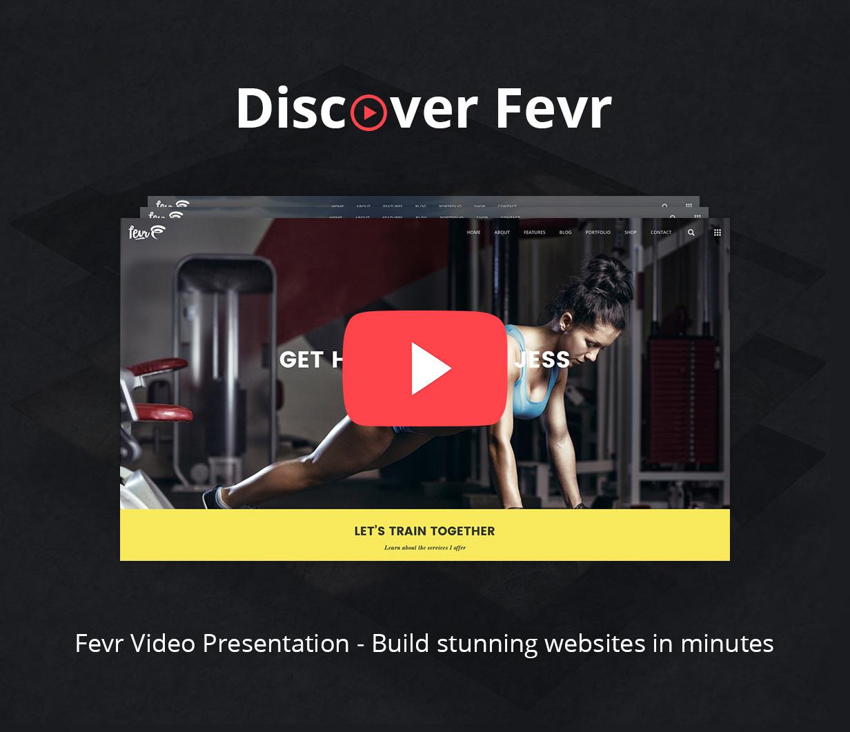discover fevr video - Fevr - Creative MultiPurpose Theme
