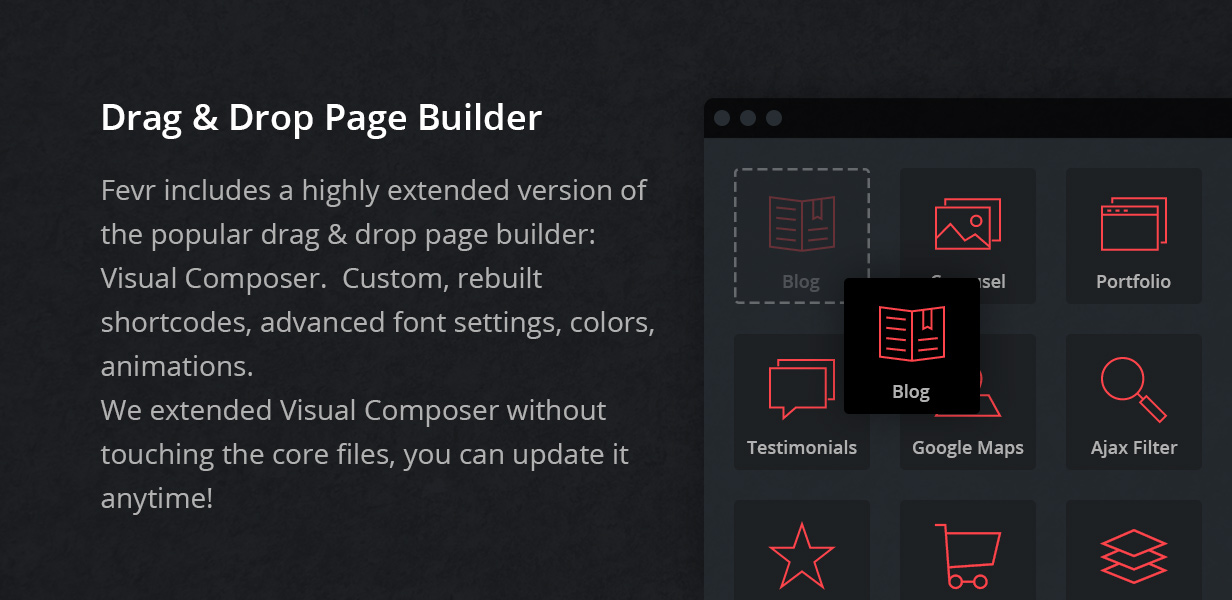 drag and drop page builder - Fevr - Creative MultiPurpose Theme