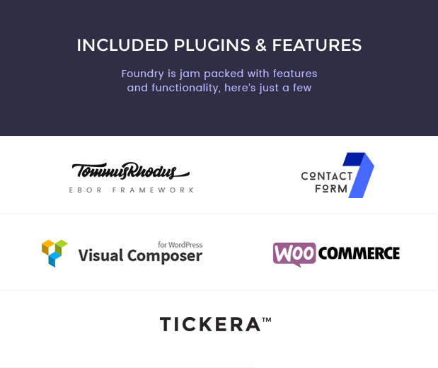 foundry plugins new - Foundry - Multipurpose, Multi-Concept WP Theme