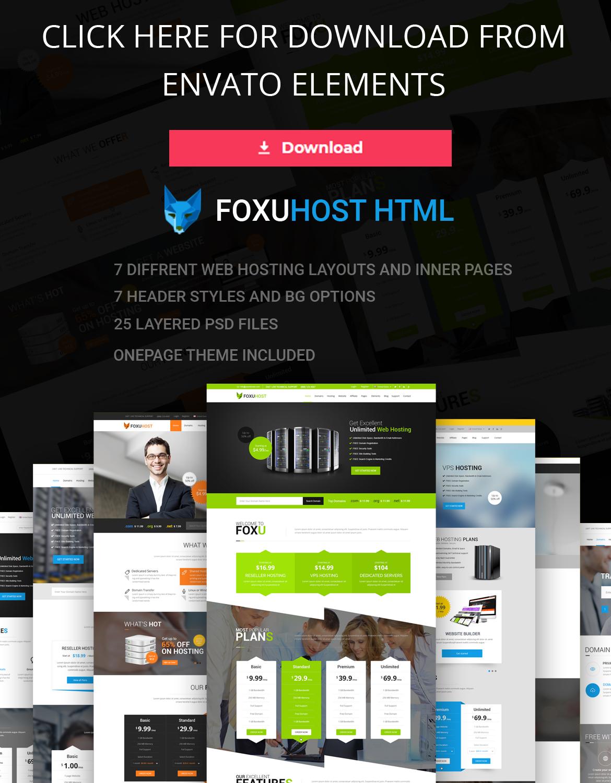 foxuhost html - Foxuhost - Web Hosting, Responsive HTML5 Template