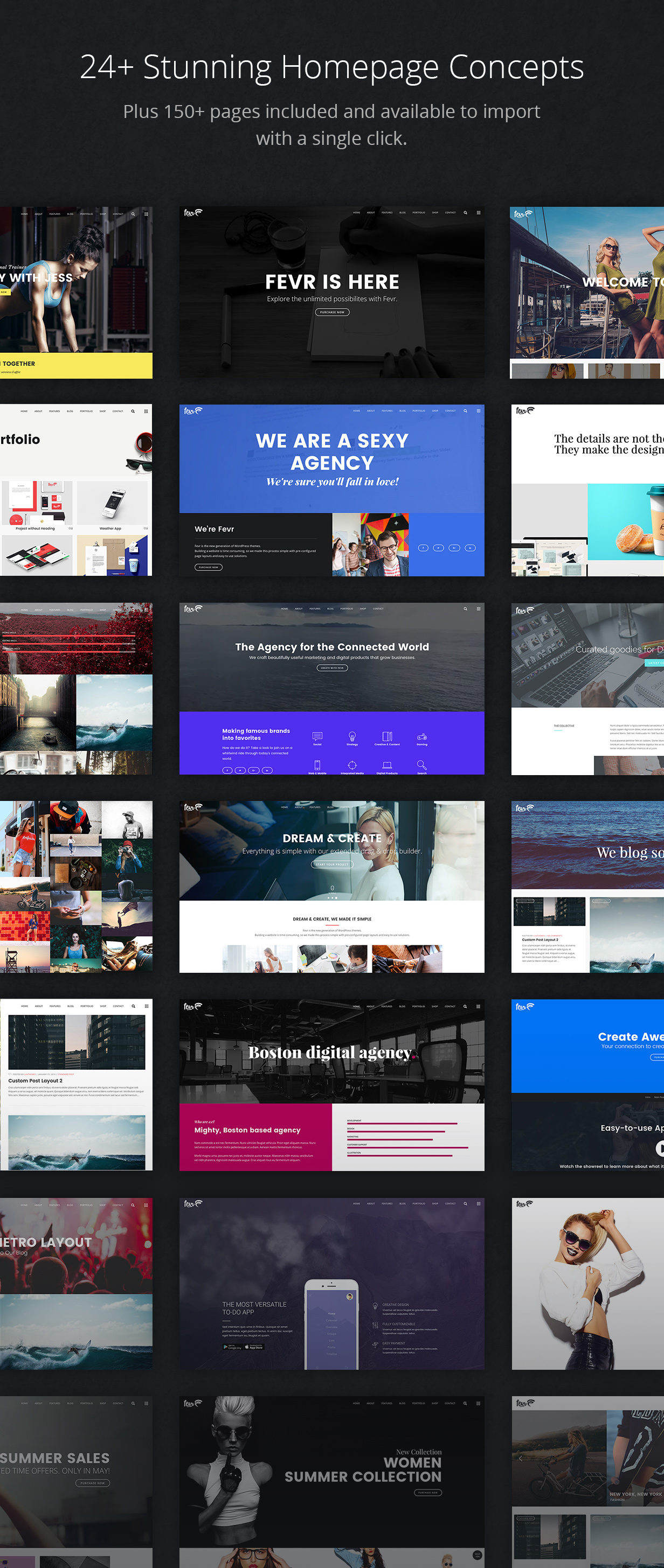 frontpages - Fevr - Creative MultiPurpose Theme