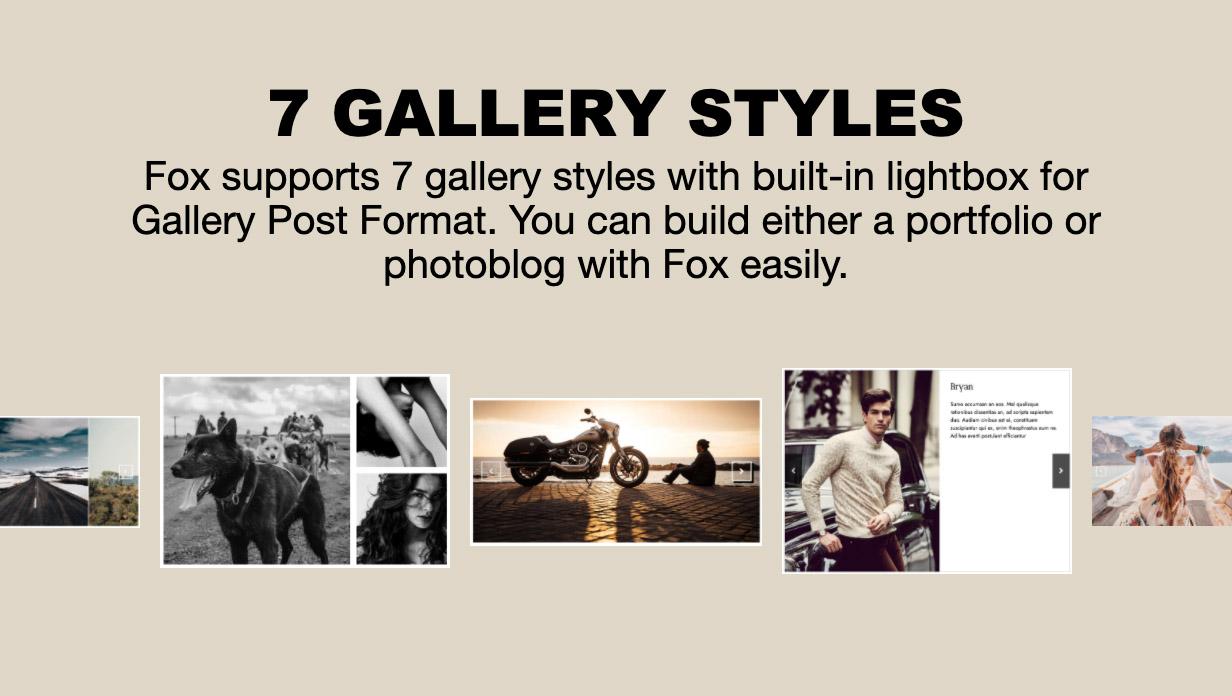 gallery - The Fox - Minimal WordPress Blog Magazine Theme