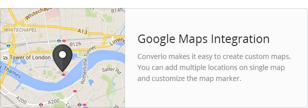 google maps - Converio - Responsive Multi-Purpose WordPress Theme