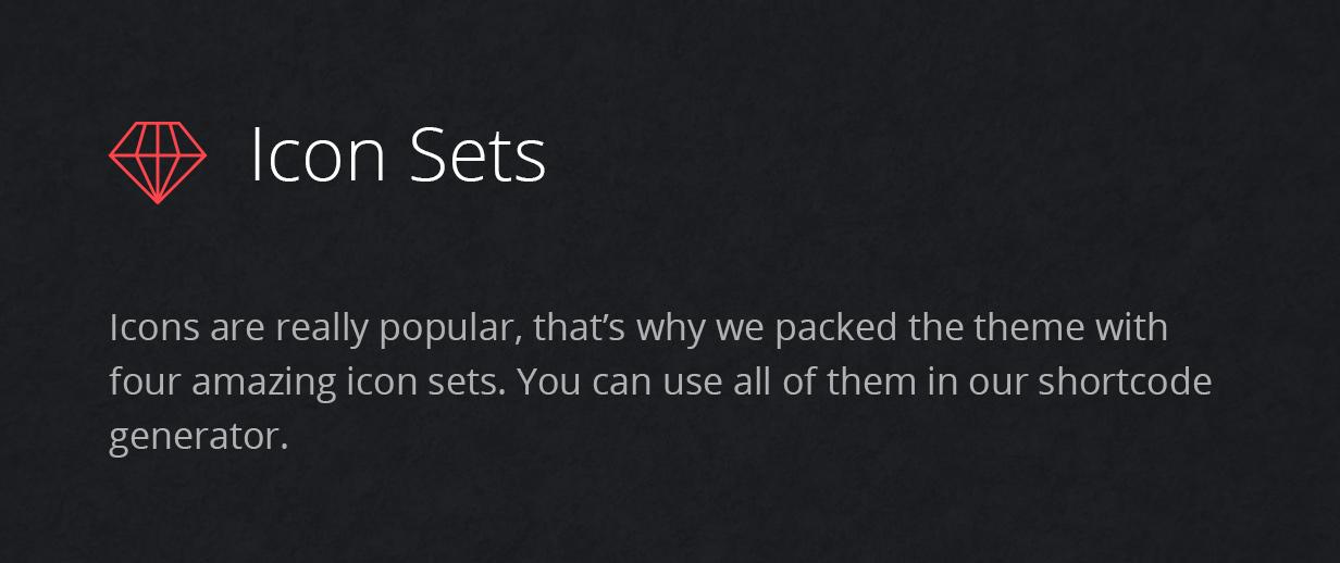 icon sets - Fevr - Creative MultiPurpose Theme