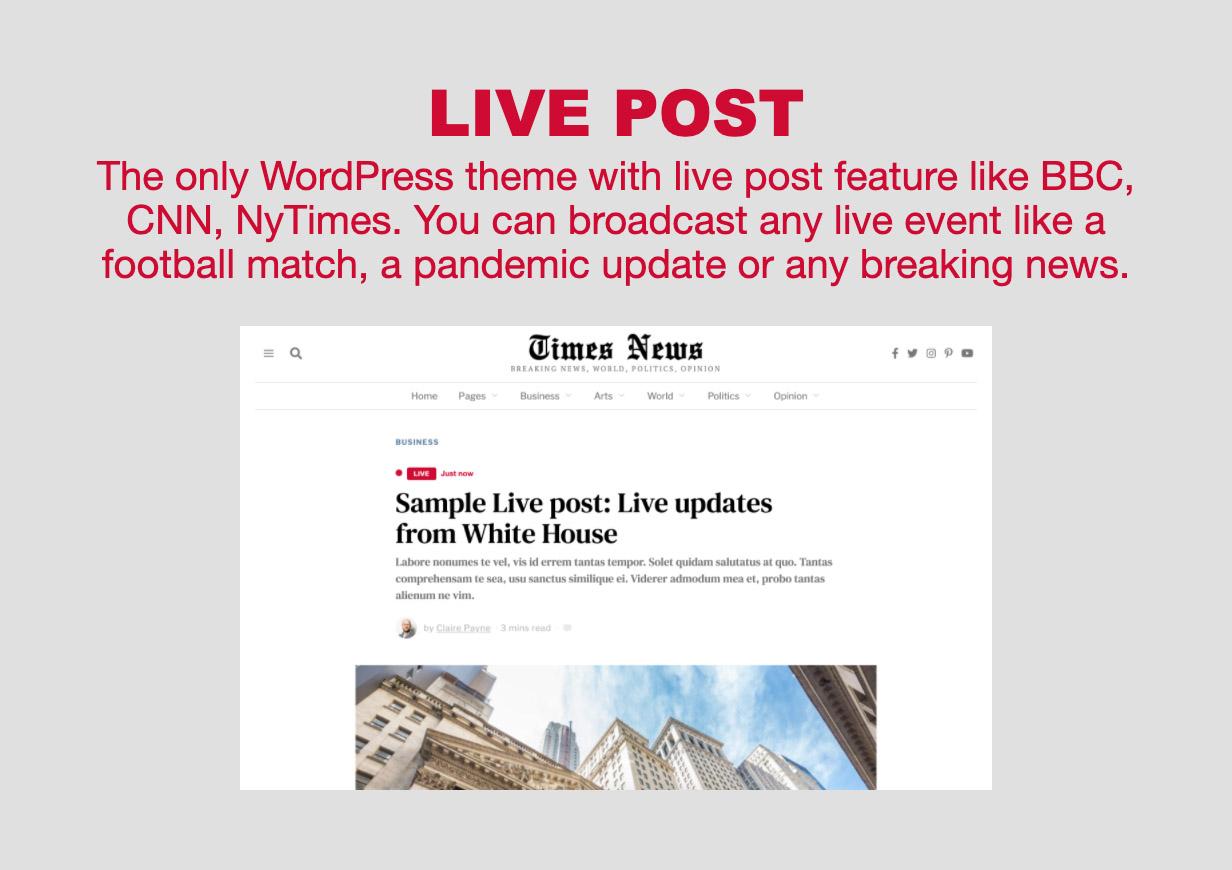 live - The Fox - Minimal WordPress Blog Magazine Theme