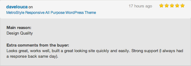 metro review 1 - MetroStyle Responsive All Purpose WordPress Theme
