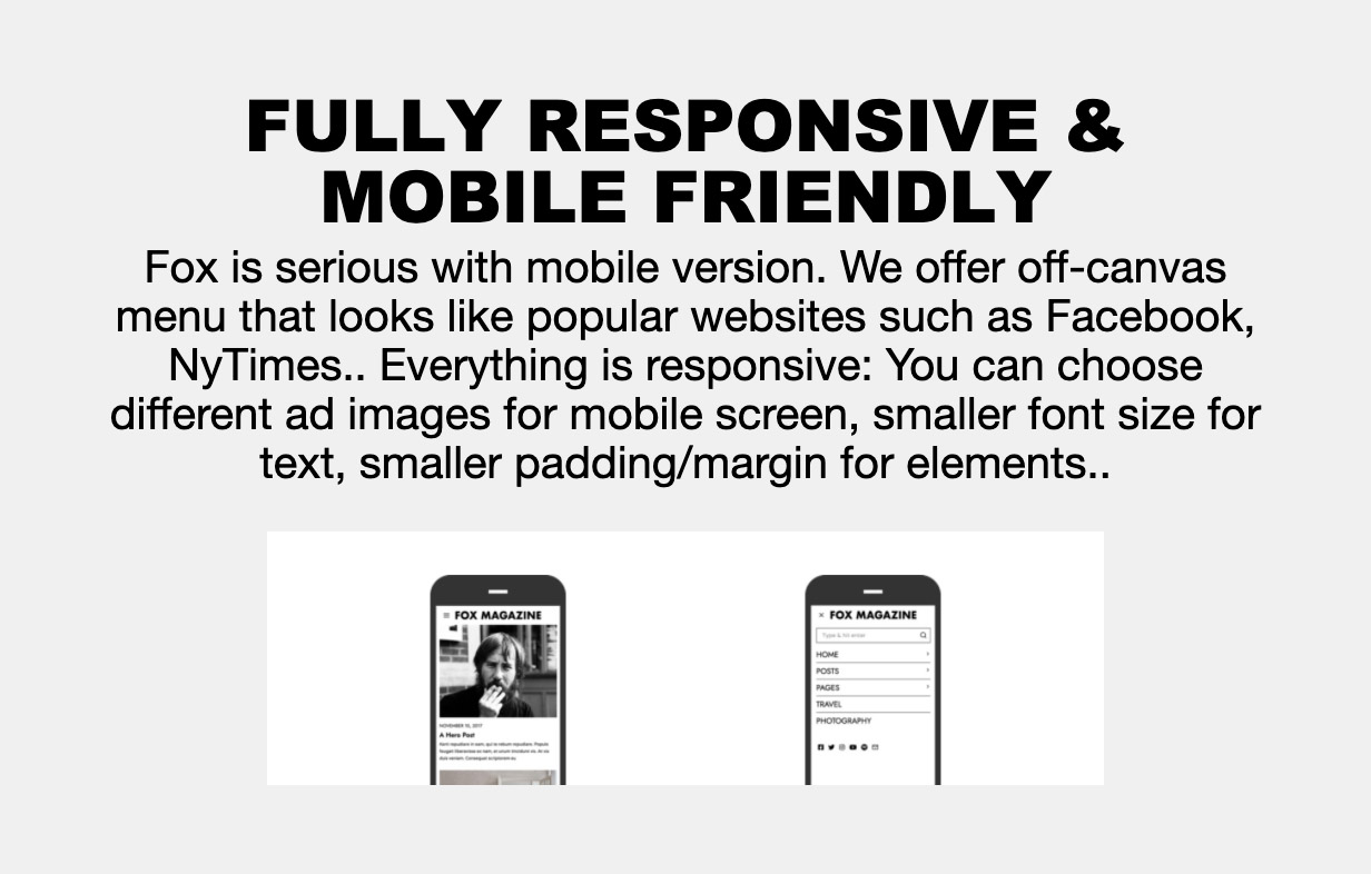 mobile - The Fox - Minimal WordPress Blog Magazine Theme