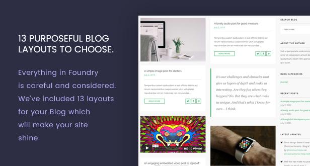 new blog - Foundry - Multipurpose, Multi-Concept WP Theme