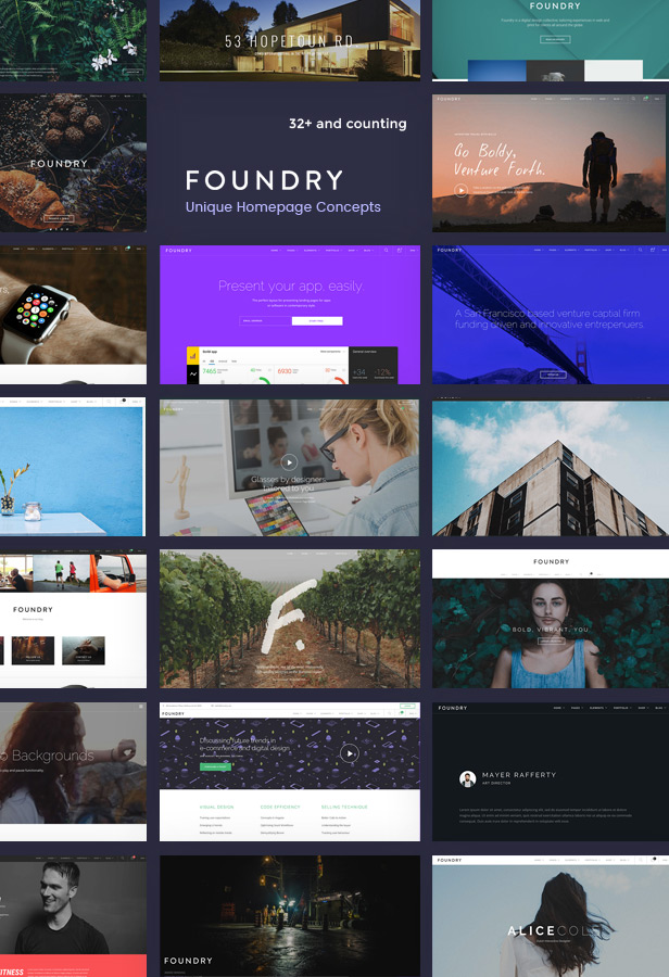 new concepts - Foundry - Multipurpose, Multi-Concept WP Theme