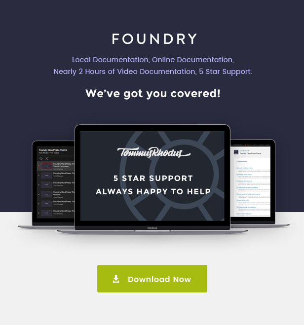 new docs - Foundry - Multipurpose, Multi-Concept WP Theme