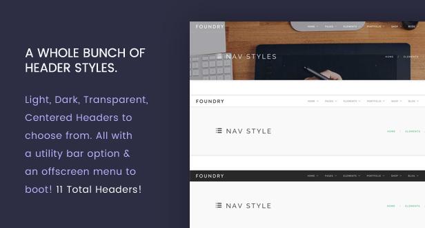new header - Foundry - Multipurpose, Multi-Concept WP Theme