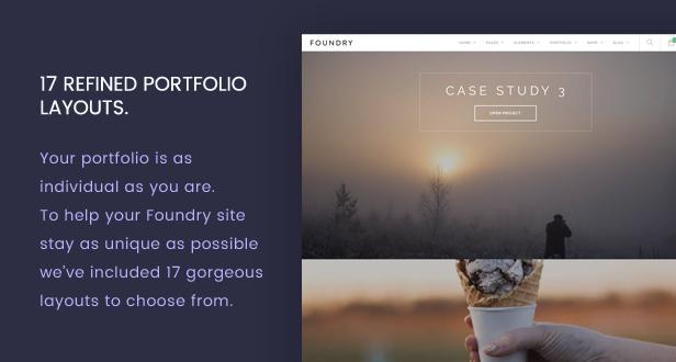 new portfolio - Foundry - Multipurpose, Multi-Concept WP Theme