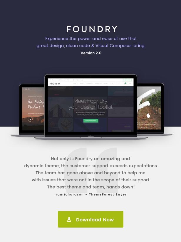 new promo - Foundry - Multipurpose, Multi-Concept WP Theme