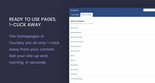 new templates - Foundry - Multipurpose, Multi-Concept WP Theme