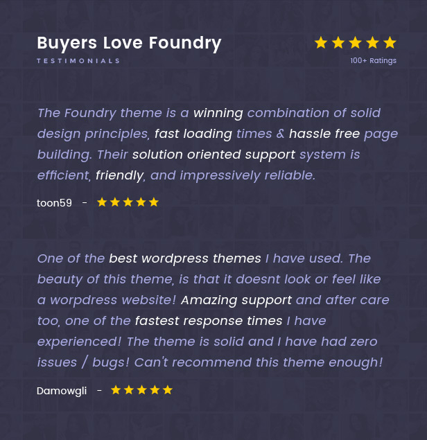 new testimonials - Foundry - Multipurpose, Multi-Concept WP Theme