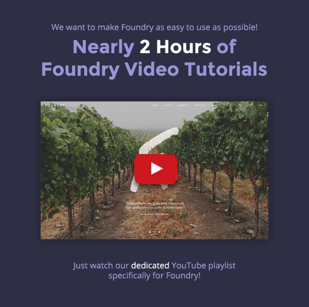 new youtube - Foundry - Multipurpose, Multi-Concept WP Theme